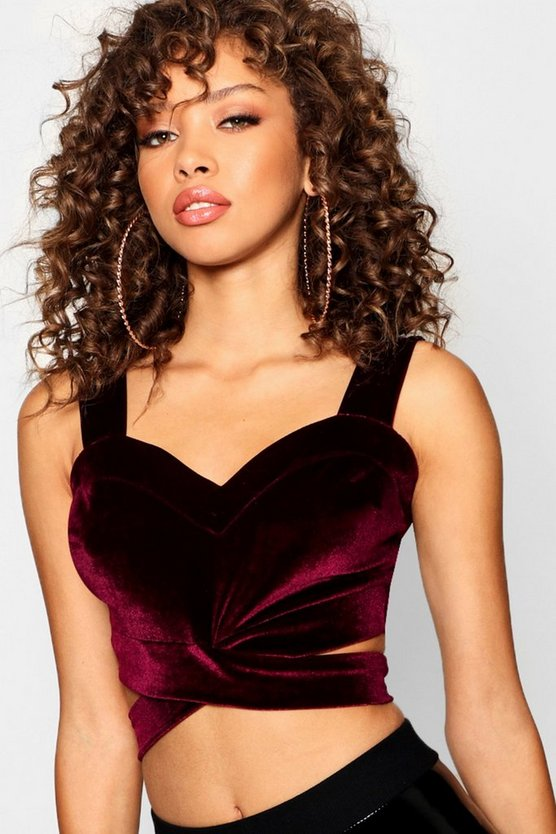 Velvet Cut Out Bralet