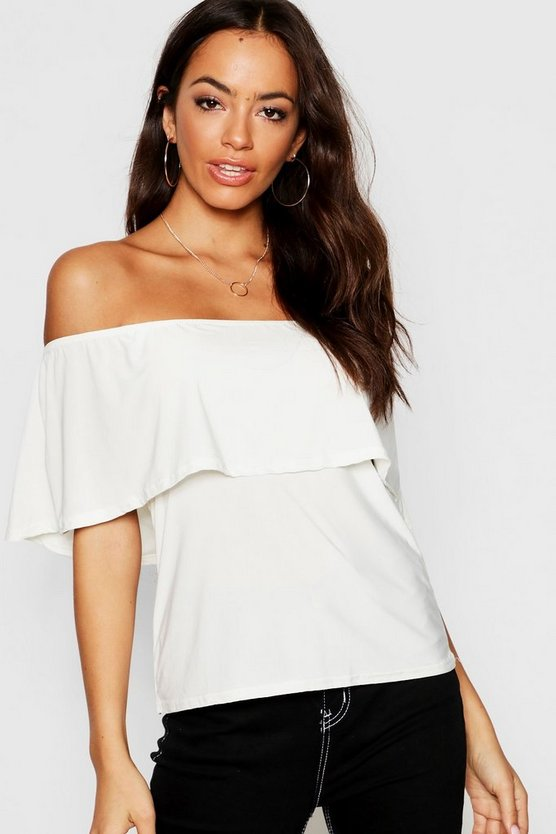 Slinky Off The Shoulder Top