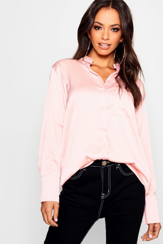 black Long Shirt Satin Satin Sleeve black Shirt Long Sleeve rCqrB8