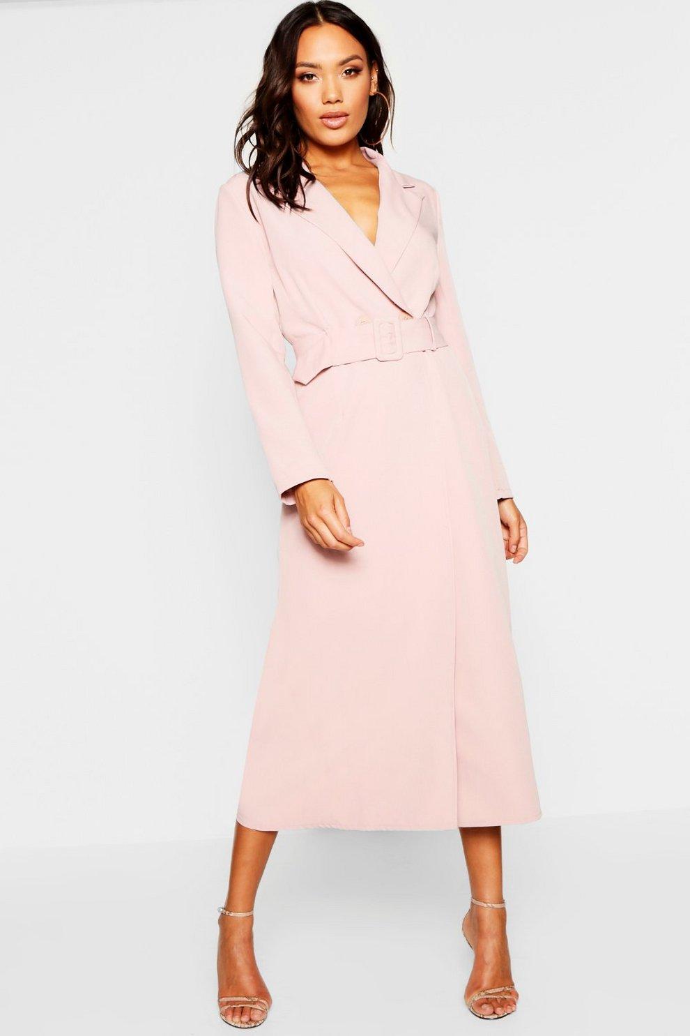 ec6a074f9b65 Woven Double Breasted Maxi Blazer Dress | Boohoo