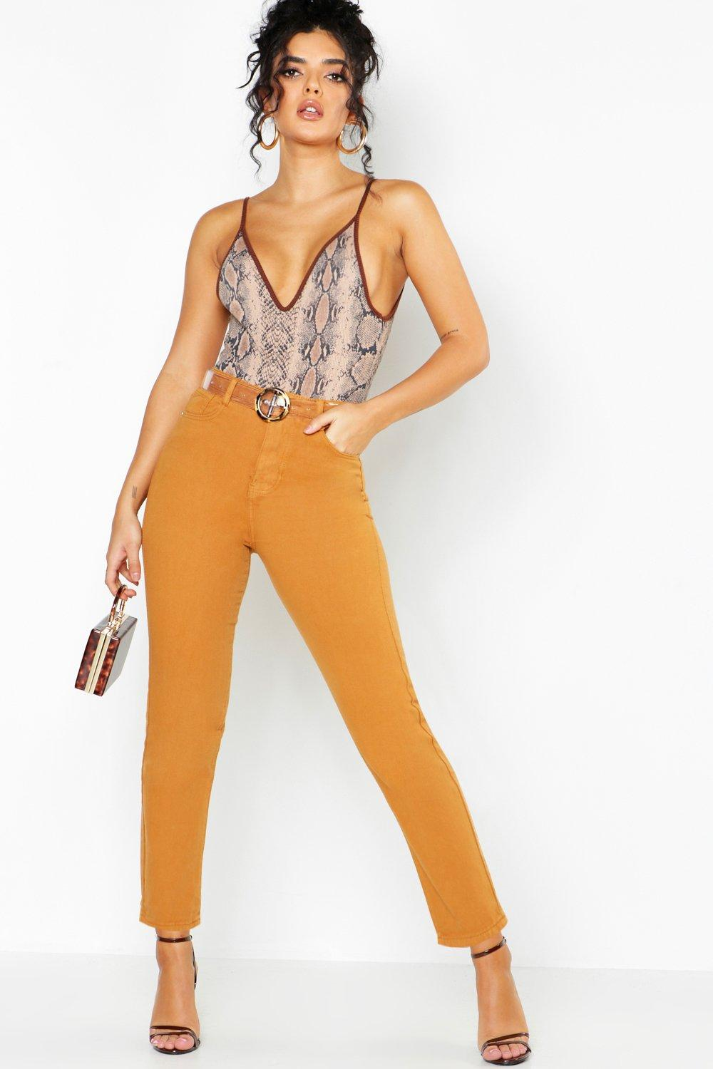 Mustard High Rise Mom Jeans