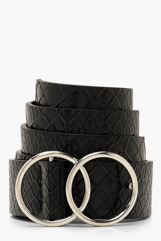 Croc Double Ring Boyfriend Belt