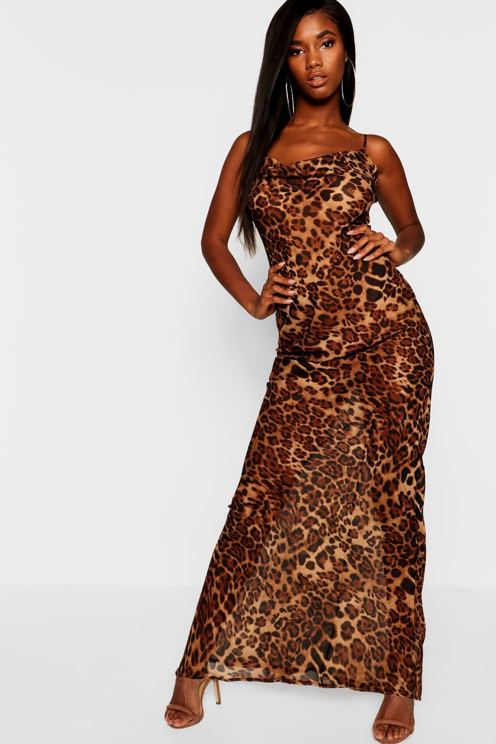 16ebf778d2 Leopard Mesh Maxi Dress