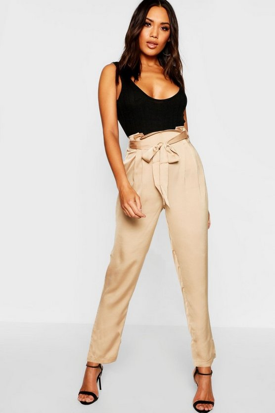 Satin Tie Waist Trousers