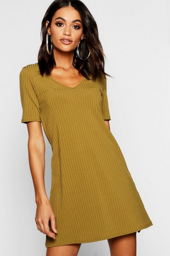 V Neck Swing Dress