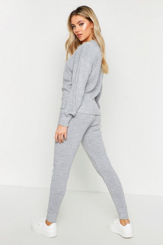Crew Neck Heavy Knitted Lounge Set