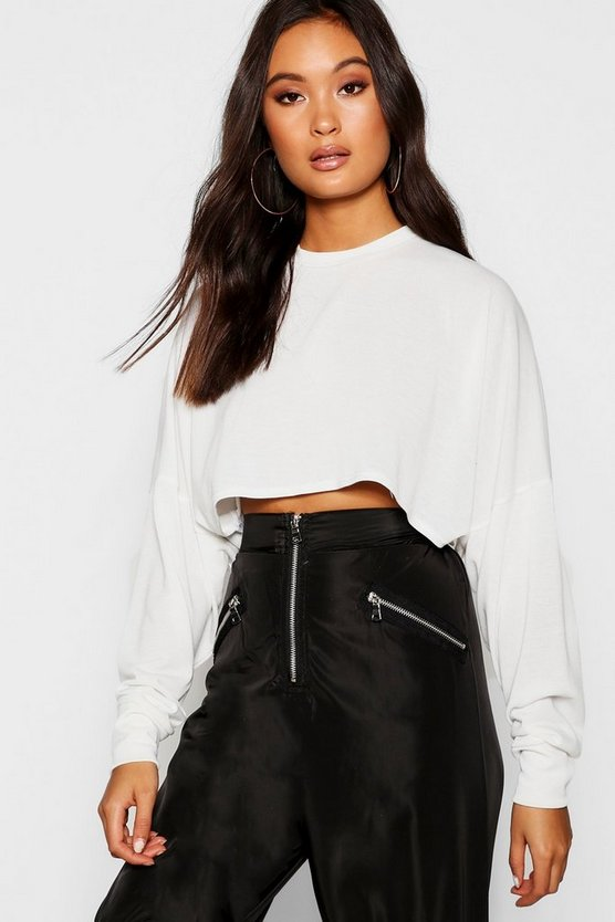 Oversized Knitted Box Crop Top