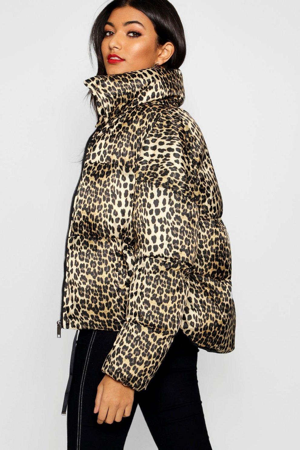 bd267403576b Leopard Print Puffer Coat