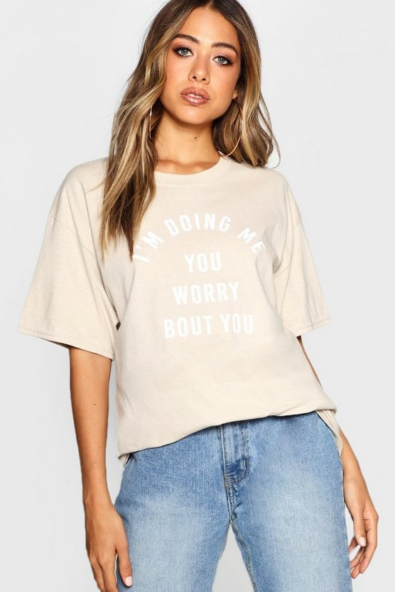 Oversized Slogan T-Shirt