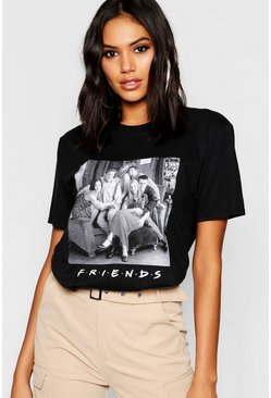Womens Black Friends Licensed T-Shirt