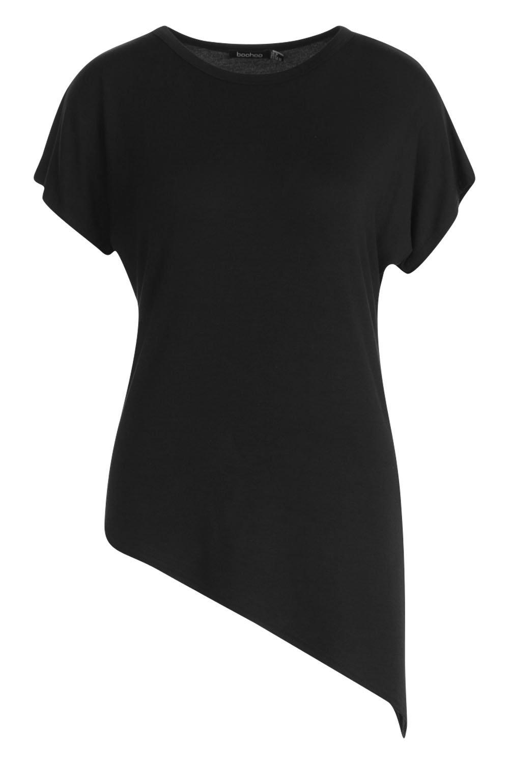 Camiseta negro asimétrica básica asimétrica asimétrica Camiseta básica Camiseta básica negro negro rtqrwSa