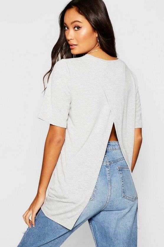 Split Open Back T-Shirt