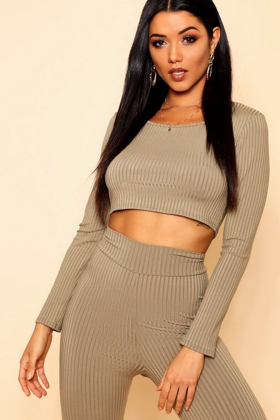 Jumbo Rib Scoop Neck Crop