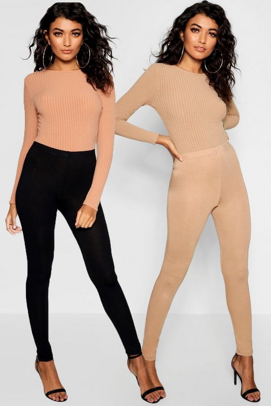 2 Pack Basic Jersey Leggings