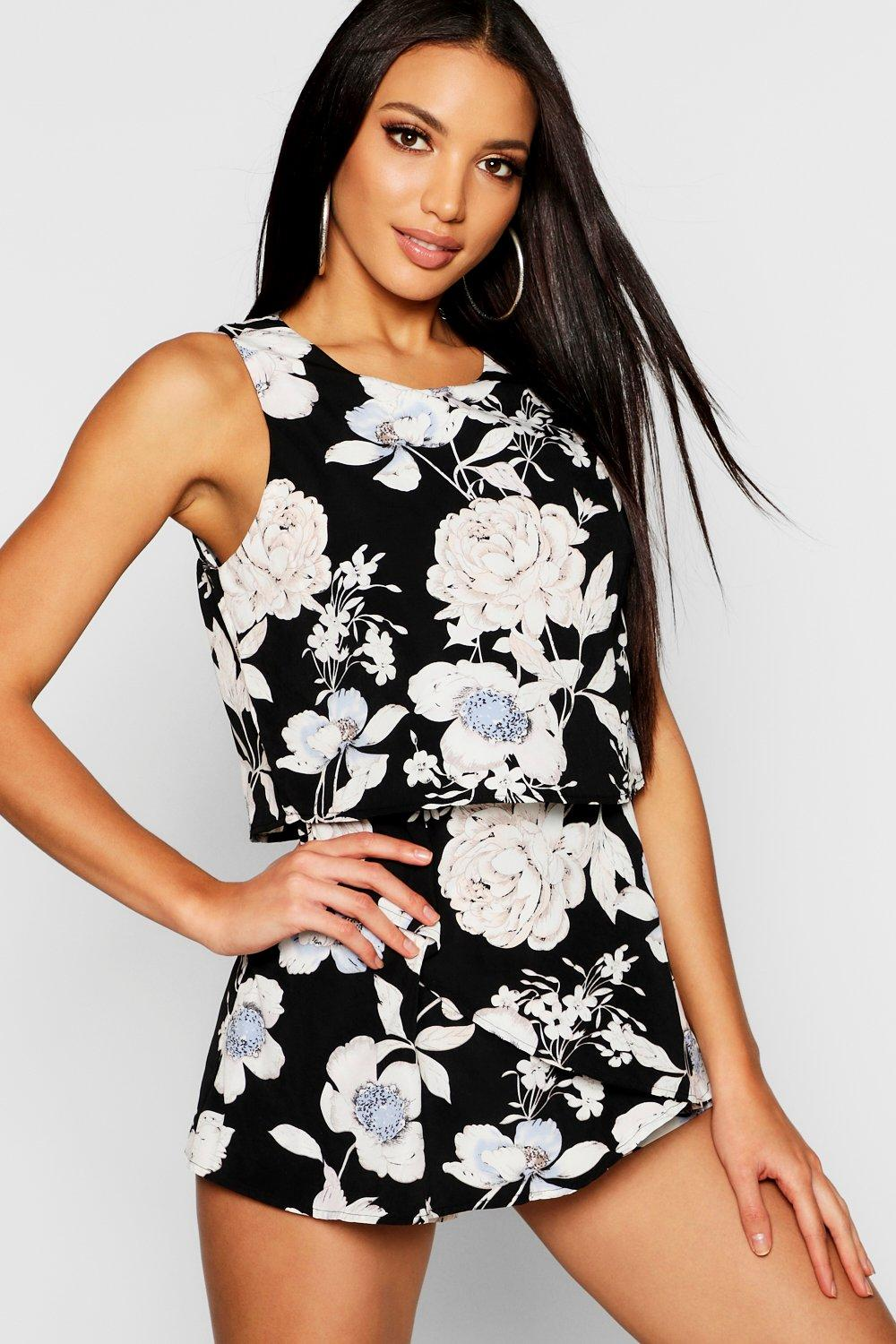 Floral Frill Layered Playsuit