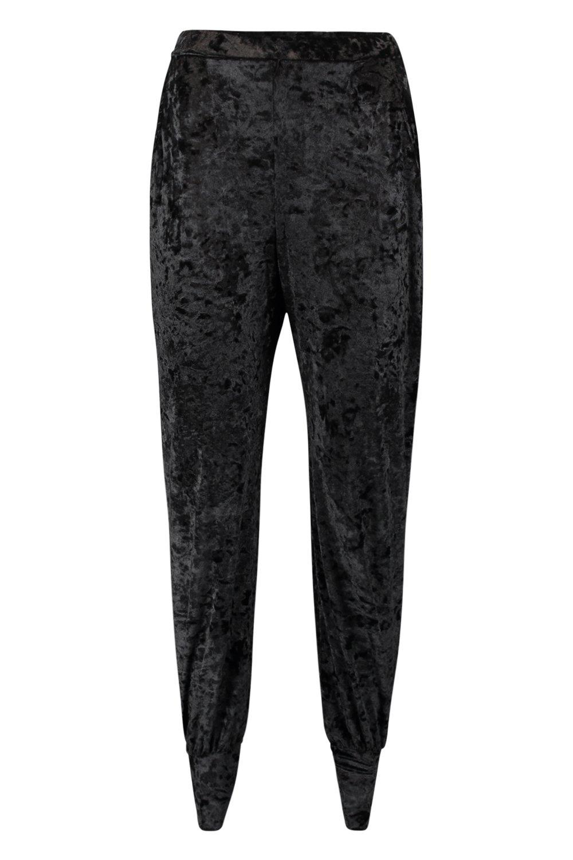 Pantalones negro chafado de de terciopelo deporte holgados r0r1q7