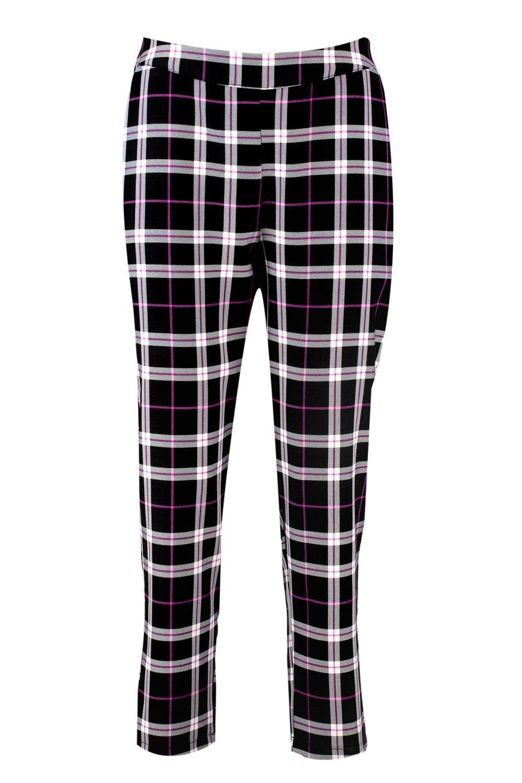 negro tejidos Pantalones pitillo a cuadros BqSZH8C