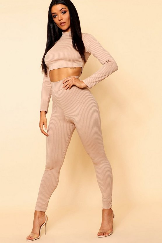 Basic Jumbo Rib High Waisted Leggings