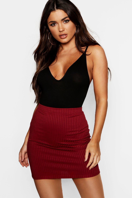 Jumbo Rib Mini Skirt