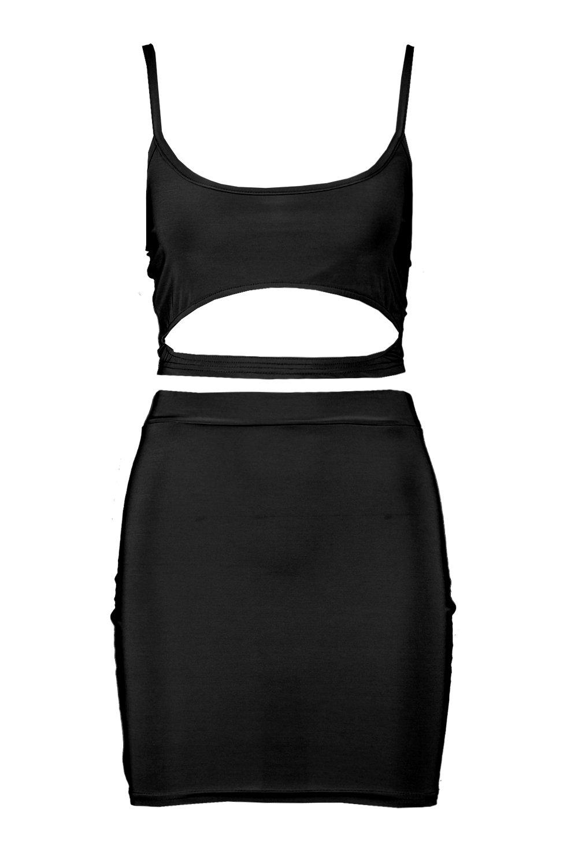 Conjunto minifalda negro y elegante de top nwzqPRB