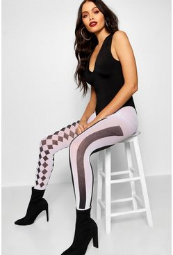 Womens Multi Halloween Joker Tights