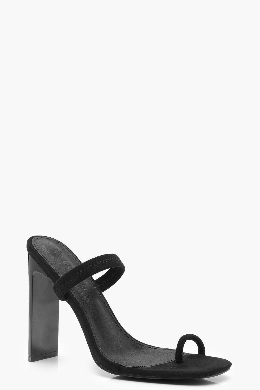 Toe Post Flat Heel Mules