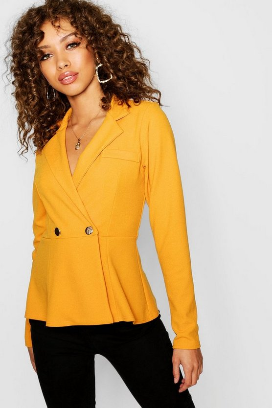 Peplum Double Breasted Blazer