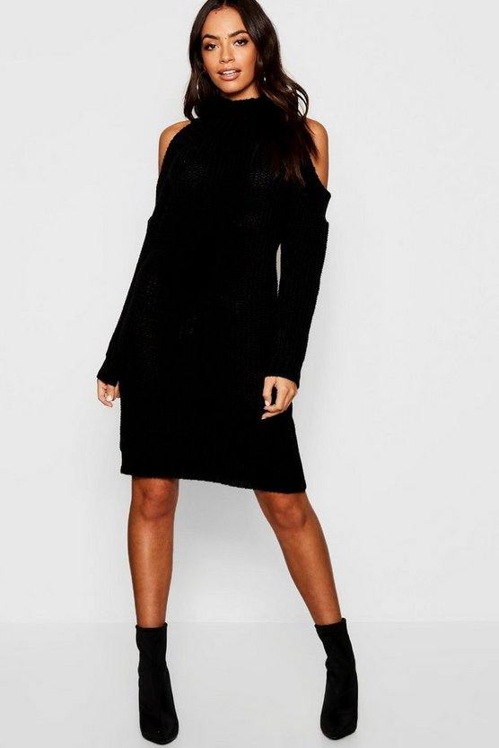 Cold Shoulder Knitted Dress