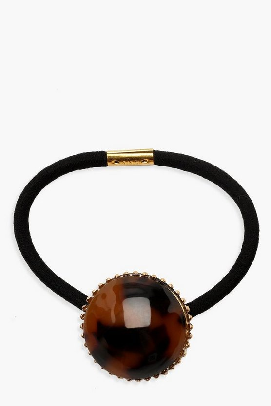 Tortoiseshell Resin Circle Hair Tie
