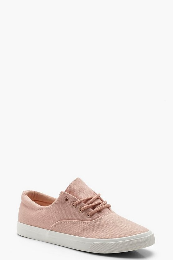 Womens Blush Lace Up Basic Pumps