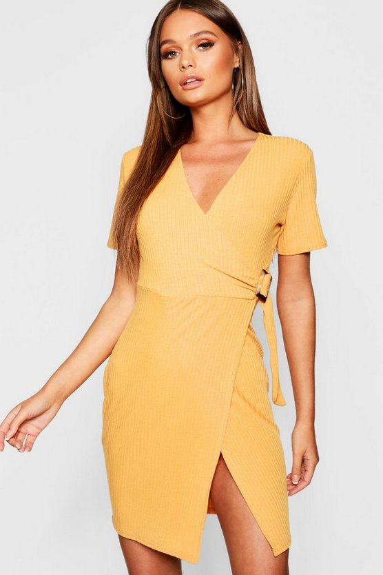 Wrap Rib Tort Shell Dress