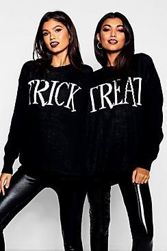 Halloween Trick Or Treat Twin Jumper