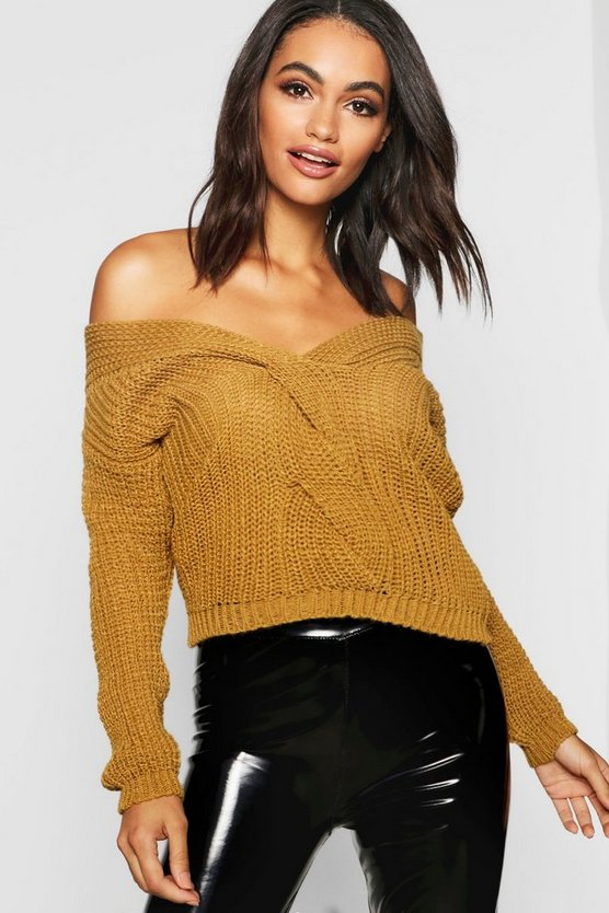 Off The Shoulder Crop Jumper
