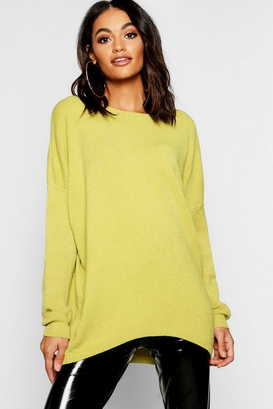 Soft Knit Oversized Boyfriend Sweater