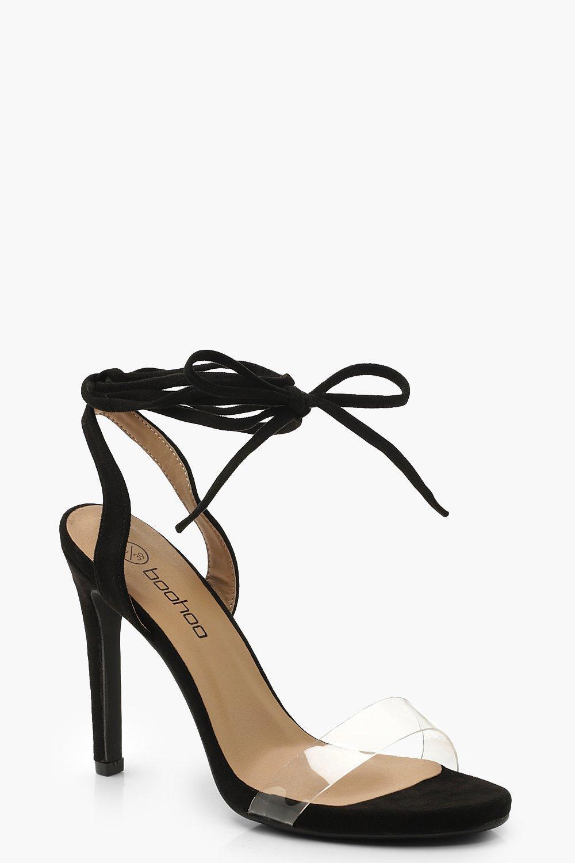 Perspex Wrap Stiletto Heels
