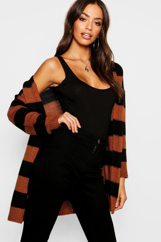 Stripe Cardigan Front black Wrap Stripe Wrap YqPRaR