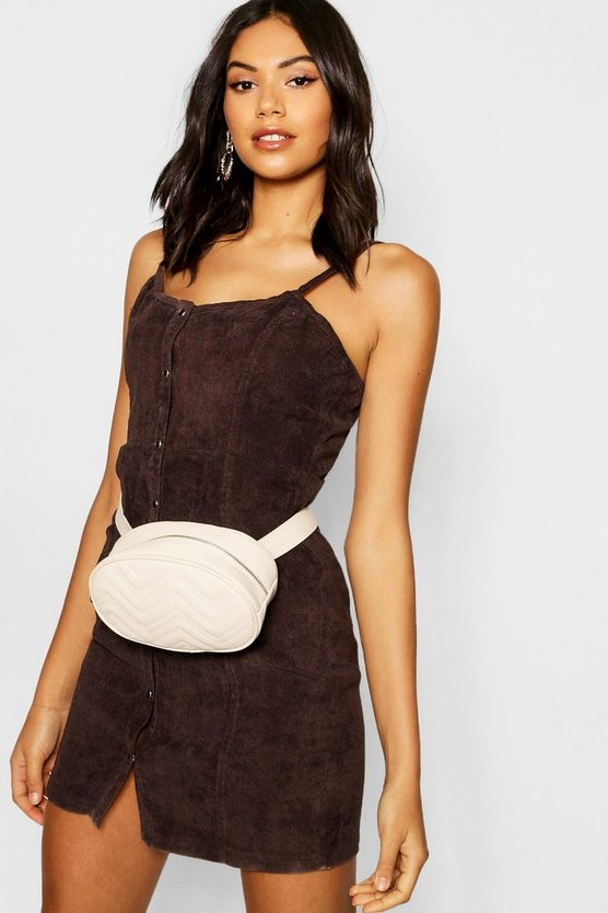 Womens Chocolate Popper Front Cord Dress