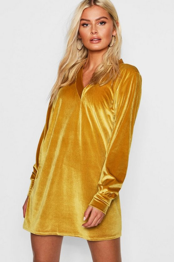 Velvet Oversized Sweat Dress