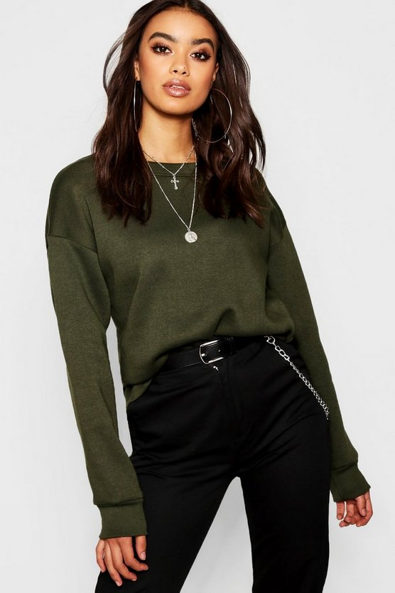 Oversized Basic Crew Neck