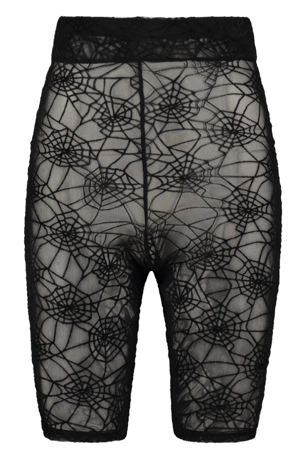 black Short Lace Web Halloween Spider Cycling qORCRvw