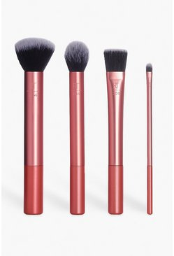 Set de brochas para base de maquillaje Real Techniques, Rose gold, Mujer
