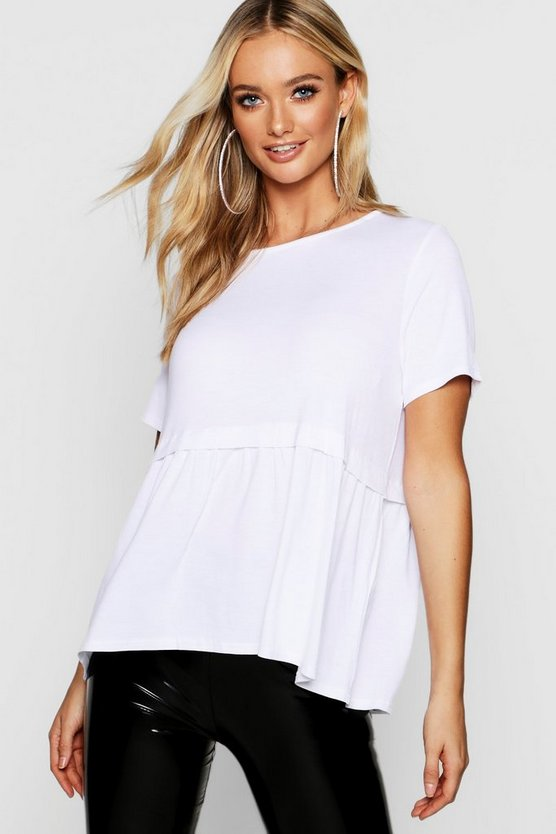 Scoop Neck Peplum Top