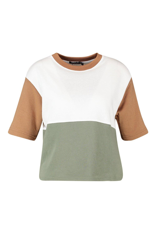Colour Shirt Colour Ringer Block Block T wFOxR7CqZ