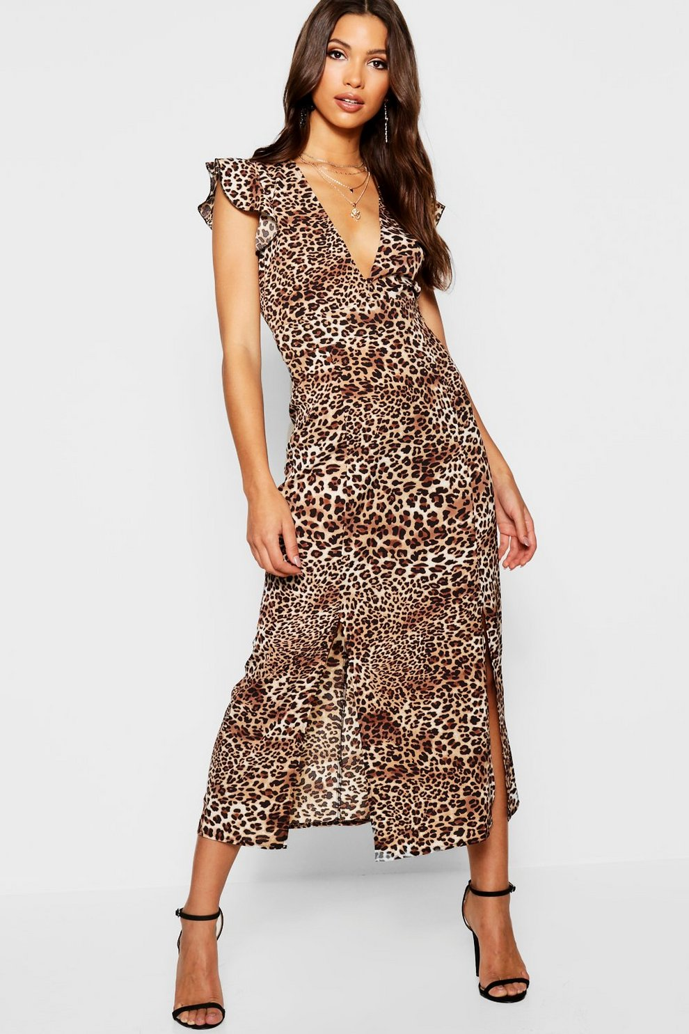Animal Ruffle Mini Dress  b14e25d1a