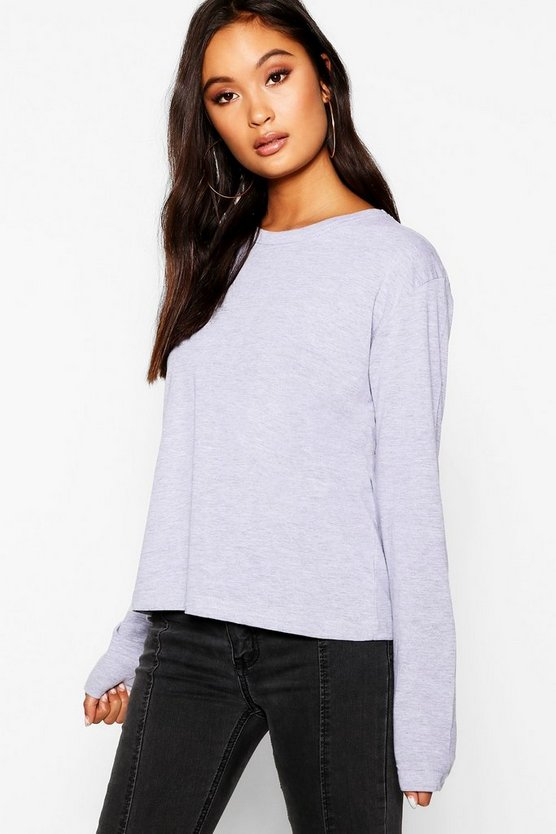 Basic Long Sleeve Cotton T-Shirt
