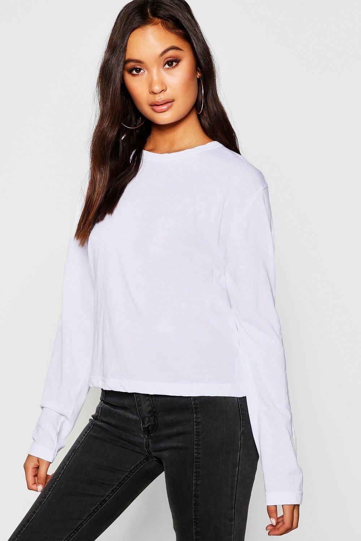 Shirt Sleeve Cotton Cotton Basic T white wZYqnB