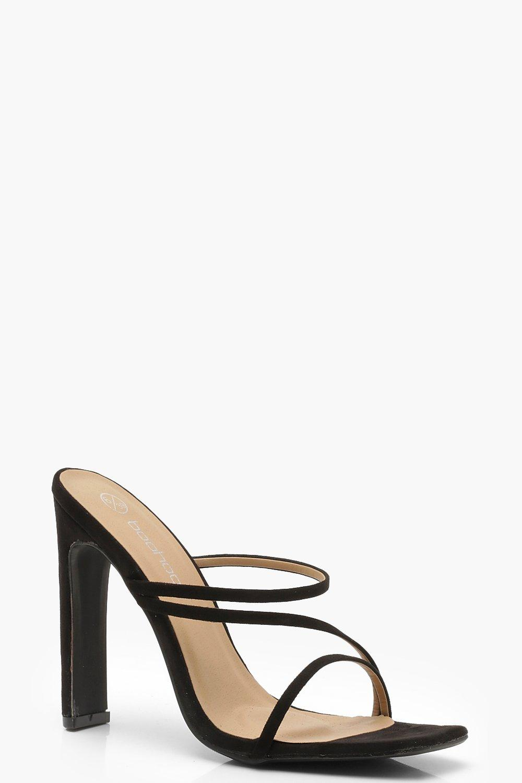 Square Toe Cushion Flat Heel Mules