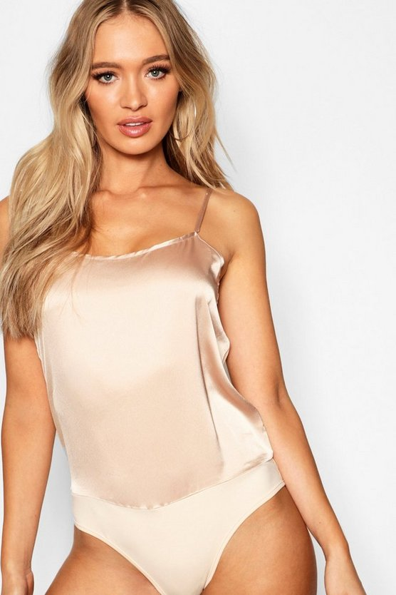 Womens Satin Cami Bodysuit