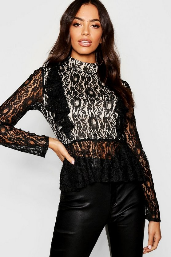 Premium Lace Peplum Top