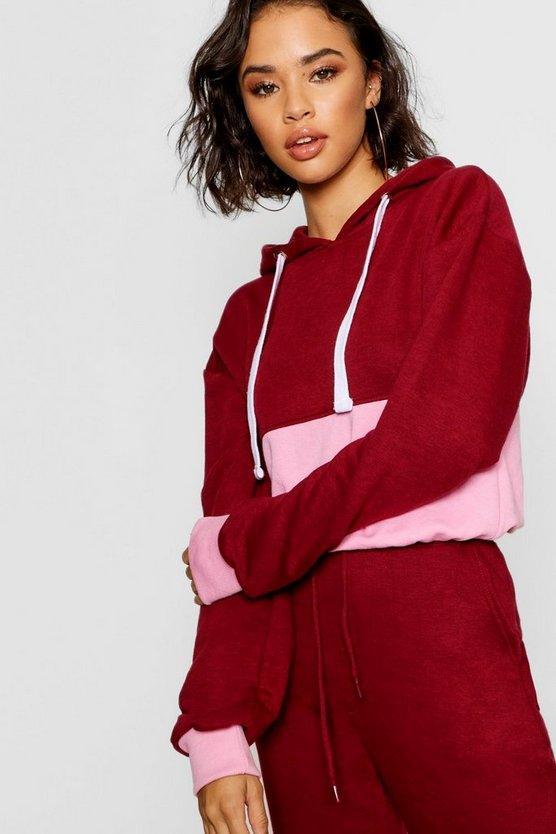 Woman Colour Block Hoody